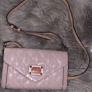 GUESS clutch/crossbody w/ detachable strap